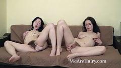 Eva Lisana and Tamanta share hot lesbian sex