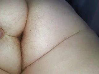 Fondeling my breast Fondeling the wifes big white hairy ass,pussy