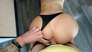 Homemade sex with mature milf in her ass