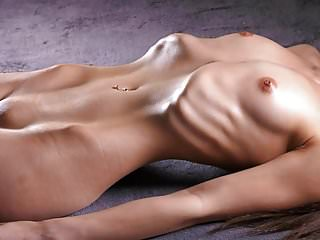Asian pork ribs - Skinny girl shows her ribs