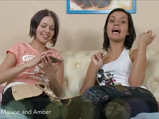 Cum eating amber Lesbians maxine and amber masturbate pussy with vibrator