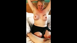 Curvy Blonde Wife Fucking With her love and her husband Film
