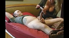 Boy with big cock and his first mature MILF