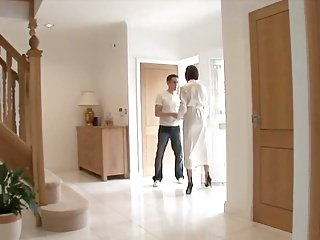 Fucking mature titties - Classy lady serviced by young handyman