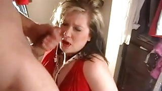 Submissive wife take the most BRUTAL face fuck...DAMN! Nice!