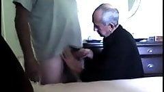 Grandad sucks and licks