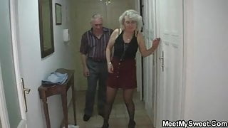Boyfriend finds her fucking his old parents