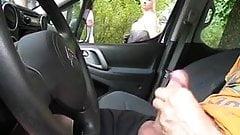 Public FLASH Car Watching blond MILF2