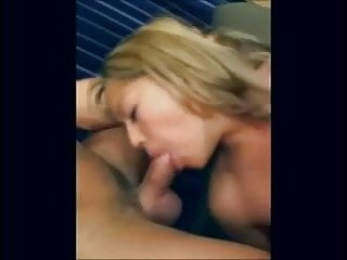 Hot asian sucking Hot asian blonde sucks two white cocks and swallows