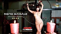 Nene Masaki is having a blast during a bondage session