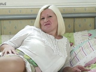 Big breasted amateur milfs - Horny big breasted granny and her old cunt