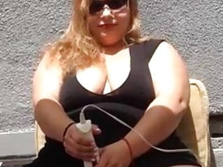 Vintage deadstock sunglasses - Hot bbw in sunglasses masturbates with hitachi 2