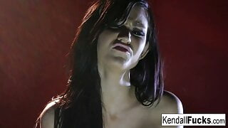 Kendall has way too much fun getting her pussy all wet