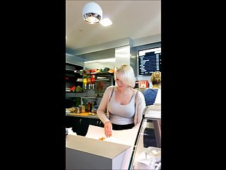 Free adult servers index Spying on busty blonde server at cafe