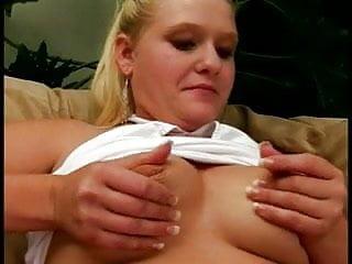 Pussy banged fast cumm filled Horny blonde banged hard fast