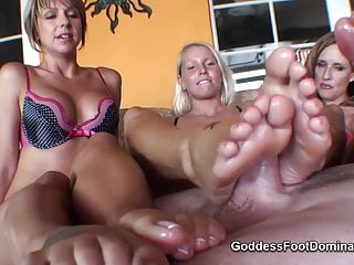 Femdom daughters Mother not her daughter footjob