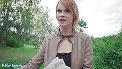 Public Agent, Redhead Ariela Donovan got fucked in a tunnel