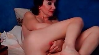 My MILF Exposed Hairy amateur granny playing with stretched