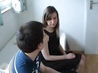 Student fuck he acher German amateur student fuck with teen boy