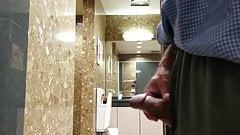 Public toilet open door cumshot231