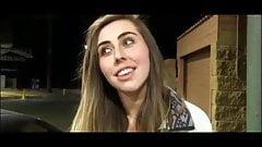 Cute girl flashed in public in a 7/11