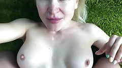 Cum in mouth for the blond slut in slow motion