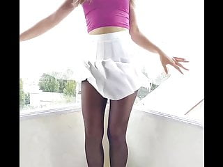 Adult fantasy costume pleated skirt Pleated skirt pantyhose dance