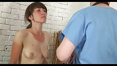 Humiliating gyno examination shy embarrassed naked female