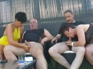 Ass fisting party German swingers