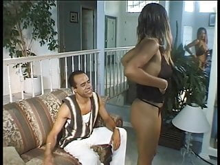 Perfect tits girl gets fucked Black beauty with perfect tits sucks dick and gets fucked on a couch
