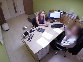 Gov agency to prevent sex discrimination Loan4k. blonde comes to loan agency and has wild sex