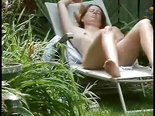 Vaction rental nude sun bathing pool My mum bath sunning in the garden decided to masturbates