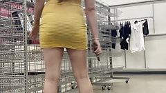 Sexy hot pregnant in see tight through sundress vpl