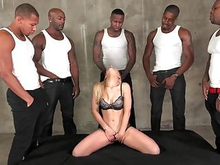 Blond sucks black cocks - Ashley fires sucks and fucks 5 big black cocks