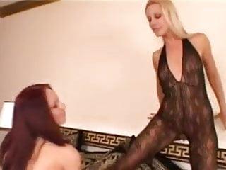 Big body big pleasure - Lusty redhead bitch pleasures blonde sandy in body stockings