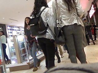 Girles party cum sucking clips - Long legged mall teen tights short clip