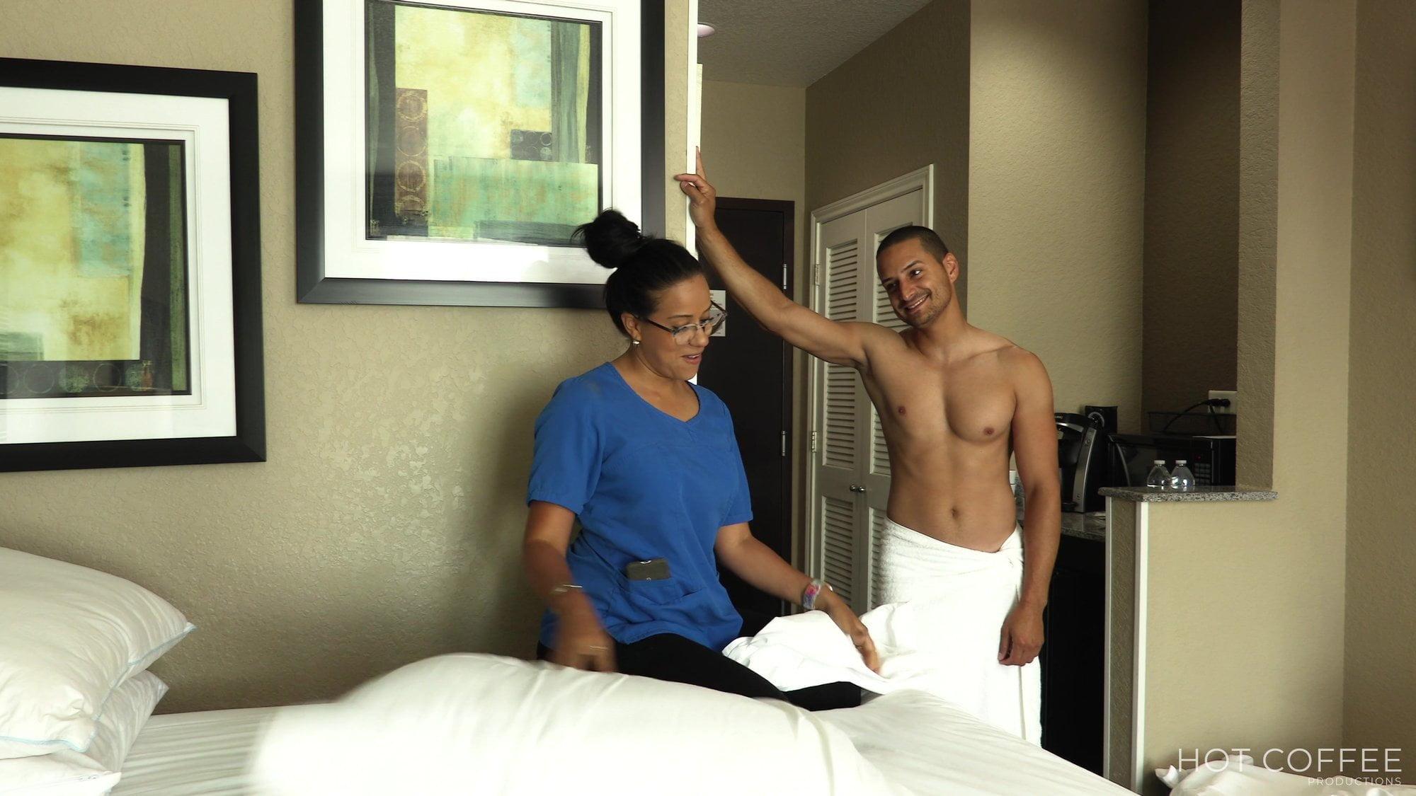 Son Mom Share Hotel Room