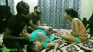 Indian xxx lovers – couple sharing girlfriends: Clear audio