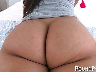 Bending over sex Natural latina karlee grey bends over for doggystyle pov sex