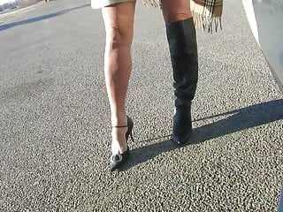 Ankle braclets on sexy woman Otk boots and bcbg ankle straps