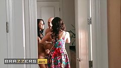 Lucky Hunk Johnny Sins Is Shared By Two Beautiful Busty Sluts