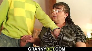 He picks up and doggy-fucks big boobs fat mommy