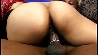 A hairy indian slut with a nice fat ass gets fucked and drinks a load