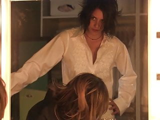 Roseanne arquette strip Katherine moennig and rosanna arquette - the l word