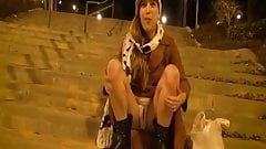 Young girl Public Exhibitionist