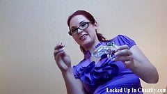 Put on this chastity device for your goddess