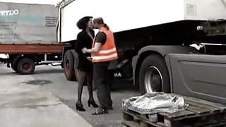 white trucker fucks black woman