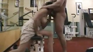 French MILF at the GYM