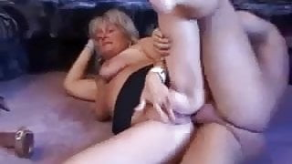 Blonde mature sucking and assfucked
