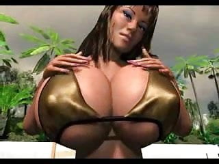 Cartoons big boobs - Swinging tropical cartoon boobs